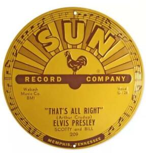 Elvis Presley - That's All Right Mama Sun Records 12 X 12 Sign