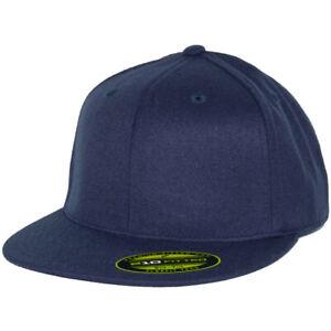 Flexfit 210 Fitted Flex Hat (Dark Navy Blue) Men's Stretch High Crown Cap