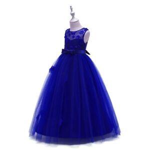 Dress bridesmaid dresses formal wedding party kid tutu baby girl flower princess
