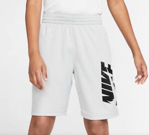 Nike Shorts Big Boys Small Authentic Solar Gray Dri Fit Mesh HBR Basketball Gym