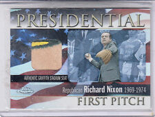 2004 TOPPS PRESIDENTIAL FIRST PITCH RICHARD M NIXON 3 COLOR CHROME FPR- RN SEAT