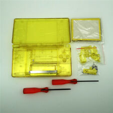 New Clear Yellow Full Housing Shell Case Buttons Tool Kits for Nintendo DSl NDSL
