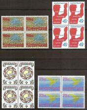 NVPH 1094 - 1097 in postfrisse blokken van 4