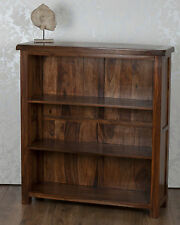 Valencia DVD CD Bookcase Dark Solid Sheesham Rosewood Free Delivery!