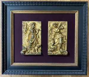Magnificent French Neoclassical Guild Bronze Plaque Diana The Huntress