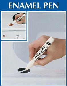 White Enamel Pen, Chip Repair, Paint Touch Up for Bath Sink Shower Fridge Cooker