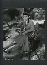 JUNE ALLYSON ON SET BETWEEN TAKES CANDID - 1956 YOU CAN'T RUN AWAY FROM IT