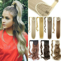 HOT SALE Clip In + Hair Wrap Ponytail Hair Extensions Pony Tail as Human Thick