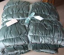 Laura Ashley Delaney Velvet Bedspread / Quilt in Duck Egg - 200cm x 200cm  NEW
