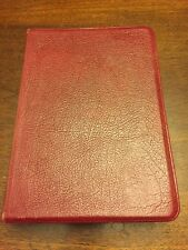 VINTAGE NIV HOLY BIBLE  1978 - TOP GRAIN COWHIDE Red. FREE SHIPPING