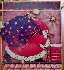 Mary Engelbreit Cards To Keep Sealed Vintage Believe Santa 3D