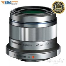 Olympus M. Zuiko Digital ED 45mm f1.8 (Silver) Lens for Micro 4/3 Cameras JAPAN