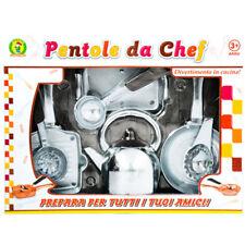 Set pentola giocattolo Mazzeo Giocattoli gioco di cucina colore acciaio