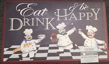 "ANTI-FATIGUE FLOOR MAT (18"" x 30"") PVC,3 FAT CHEFS, EAT, DRINK & BE HAPPY, CGear"