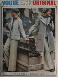 Vintage Vogue Paris Original Pattern 1026 PIERRE BALMAIN Coat Jacket Trousers Sk