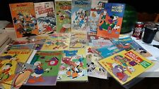 LOT OF 24 Vintage Walt Disney Comic Books. Donald Duck, Mickey Minnie, Goofy.