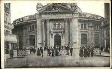 Paris Frankreich s/w Postkarte 1916 datiert Bourse du Commerce Straßenpartie