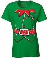 ELF COSTUME Ladies T-shirt Santa's Helper Merry Xmas Shirt The Elves Cute Shirt