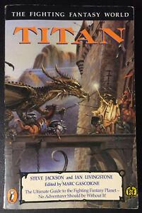 TITAN - The Fighting Fantasy World - Jackson/Livingstone/Gascoigne 1989 A5 VG