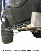 Ricochet Off-Road 2 PC Rock Slider Skid Plate Set 2016 Honda Pioneer 1000