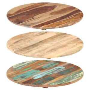 vidaXL Tischplatte Rund Holzplatte Massivholzplatte Esstisch mehrere Auswahl