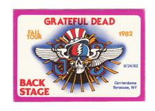 Grateful Dead - Backstage Pass - Sep 24, 1982 Syracuse NY