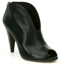 Vince Camuto Amber Peep-Toe Leather Shooties, Multiple Sizes Black VC-AMBER