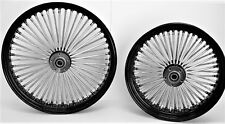 "FAT SPOKE WHEELS 21 & 16"" BLACK FRONT/REAR HARLEY ELECTRA GLIDE ROAD KING STREET"