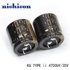 2PCS Nichicon KG Gold Tune TYPE II 4700UF 35V audio Capacitor 30X30 85℃ #E186 YX