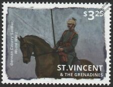 WWI German Cavalry Soldier in Battle Stamp (Horse / Uniform) Grand Duke Lancers
