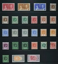 LEEWARD ISLANDS, KGVI, a collection of 25 stamps for sorting, MM & used condt.