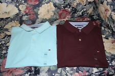 TOMMY HILFIGER MEN'S  POLO SOLID SLIM FIT SIZE XXL A LOT OF 2 SHIRTS-NWT