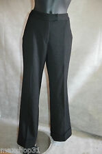 PANTALON  CAROLL TAILLE 38/M PANT/PATALONES AMPLE TBE LAINE /WOOL BLEND
