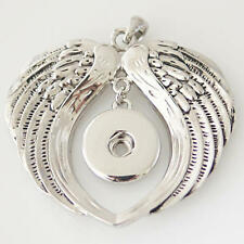 Angel Wings Necklace Magnolia Vine 18mm Fits Ginger Snaps Snap Pendant Large