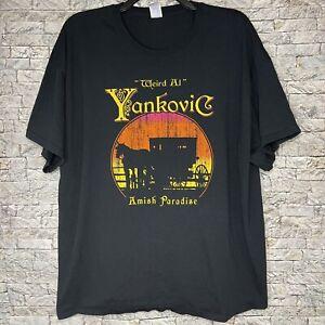Weird Al Yankovic Amish Paradise Concert Tour Band T Shirt Black Men's 3XL