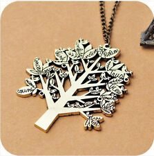 Fashion jewelry Birds trees Retro long Pendant sweater Chain Necklace ZS120