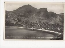 Shelter Stone Precipice From Head of Loch Avon Cairngorms RP Postcard 033a