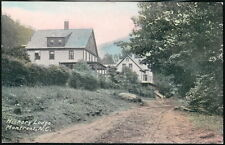 MONTREAT NC Hickory Lodge Vintage Hand Colored Postcard Old Country Road View