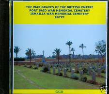 WAR GRAVES OF PORT SAID & ISMAILIA CD ROM