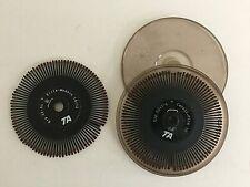 Lot Of 2 Vintage Royal Alpha Amp Adler Satellite Ii Typewriter Printwheels