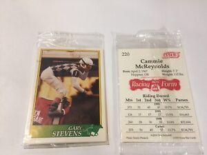 1993 JOCKEY HORSE STAR UNOPENED 6 CARD PROMO SET: GARY STEVENS, SCOTT STEVENS+