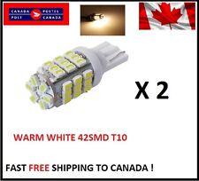 2X Warm White T10/921/194 RV Trailer 42-SMD 12V Backup Reverse LED Lights Bulbs