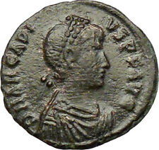 ARCADIUS crowned by Victory 395AD Rare Ancient Roman Coin Chi-Rho Christ i29226
