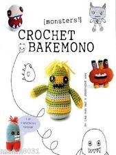 Crochet Pattern Book BAKEMONO Plush MONSTERS Amigurumi