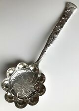 Tiffany Vine Gourd Motif Sterling Silver Slotted Serving Spoon, c1880