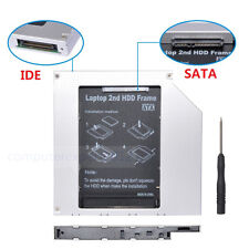 Pata IDE to Sata HDD SSD Caddy Module For 12.7mm Universal DVD-ROM Optical Bay
