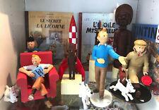 Beau lot 8 Objet TINTIN 3D MOULINSART  Fusée, Potiche, Fétiche, Fauteuil, Valise