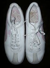 Puma Womans Sneakers White Pink Size 8