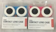 2 OWL Contact Lens Case Travel Storage Soak Kit Hard Holder Container Box New