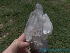 OPTICAL CLEAR__HUGE HIGH END PHANTOM DISPLAY DT CLUSTER_Arkansas Quartz Crystal
